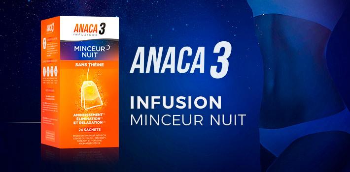 Anaca3 infusion minceur nuit : quels sont les effets