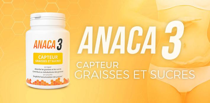 Effet secondaire et posologie: Anaca3 capteur graisses et sucres