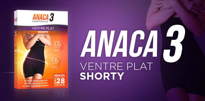 Shorty ventre plat : Découvrez le dernier-né minceur d'Anaca3