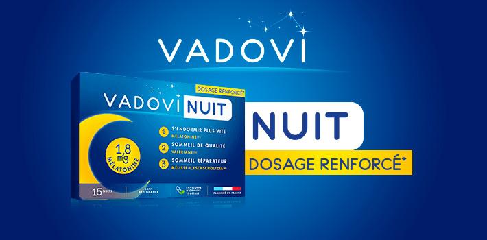 Vadovi Nuit Dosage renforcé* pour des nuits relaxantes